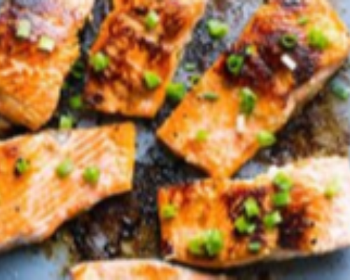 Salmon With Black Pepper