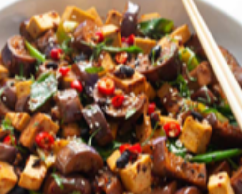 Spicy Eggplant With Ginger