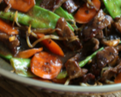 Beef With Black Mushroom And Bamboo Shoots