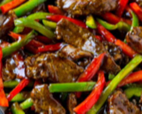 Stir Fried Beef With Black Pepper Hot
